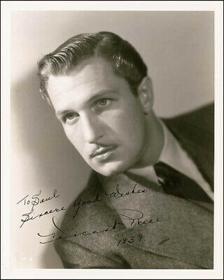Vincent Price - Autographed Inscribed Photograph 1939