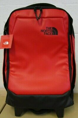 """The North Face Accona Carry-On Wheeled Luggage Red 19"""" rolling thunder BNWT"""