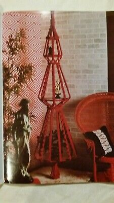 1970's Macrame Pattern Book Plant Hangers Wall Hangings Fiber Arts II