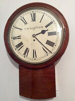 Rare EXTRA LARGE ELLIOTT of London drop dial Chain Fusee Office / Station clock