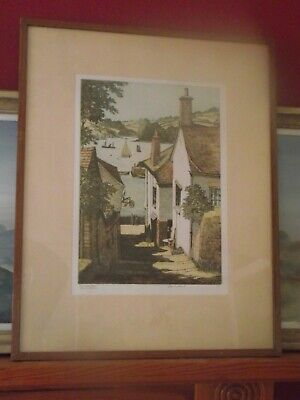 J LEWIS STANT Stunning Early 20th century English lithograph Cornwall