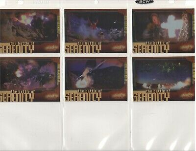 Firefly Battle of Serenity Complete Lot of All 6 Cards Chase Set B1-B6