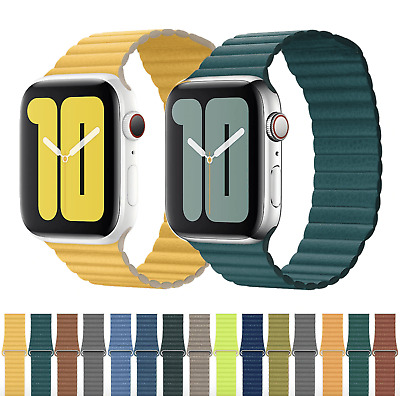 Apple Watch magnetic leather loop bands