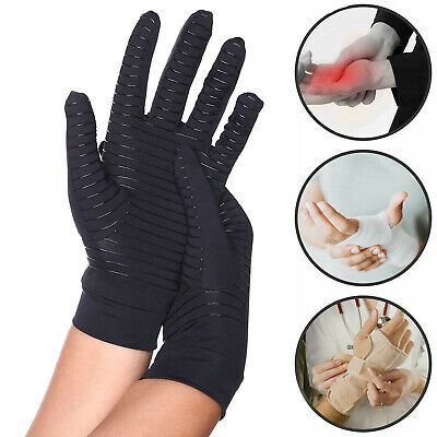 1 Pair Copper CFR Arthritis Compression Gloves Hand Support Joint Pain Relief AU