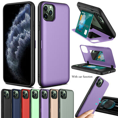 Luxury Hidden Mirror Card Slots Slim Hard Back Case Cover For Iphone 11 Pro Max