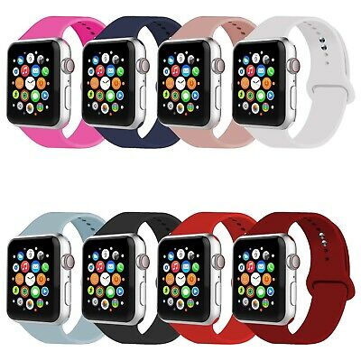 Silicone Sport Watch Band Strap Bracelet For Apple Watch iWatch Series 5/4/3