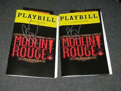 Moulin Rouge Signed Playbill Aaron Tveit