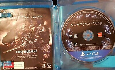 No Cover - Middle Earth : Shadow of War PS4