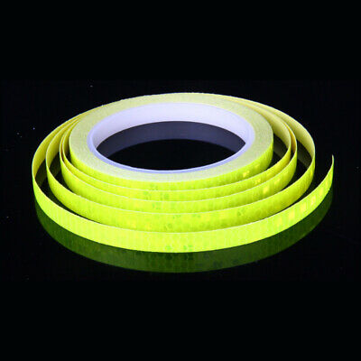 Yellow Reflective Stickers 8M Hi Viz Safety Car Bicycle Cycling Reflector Tape