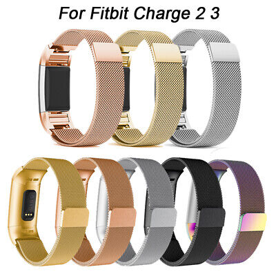 For Fitbit Charge 2 / 3 Strap Replacement Milanese Band Stainless Steel Magnet