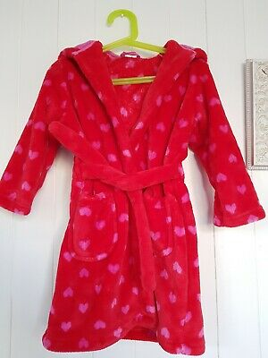 MARKS & SPENCER Girls Fluffy Dressing Gown Age 2-3 Years