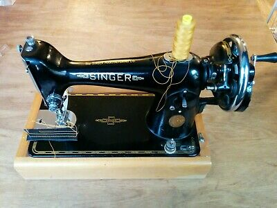 Semi-Industrial Singer 201 Handcrank Sewing Machine, sews LEATHER  Walking Foot