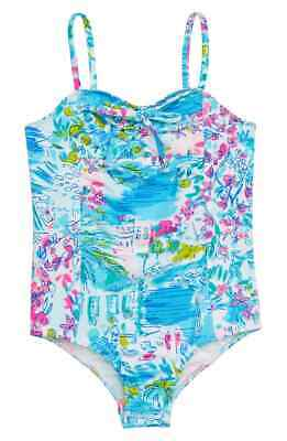 Lilly Pulitzer Kids Mini Plumeria One Piece Swimsuit in Multi 3717 Size 14