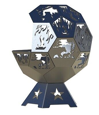 Bear Fire Pit DXF Files Geodesic 24 InchFull Dome CNC Plasma Files
