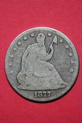 1877 P Seated Liberty Half Dollar Exact Coin Pictured Flat Rate Shipping OCE 013