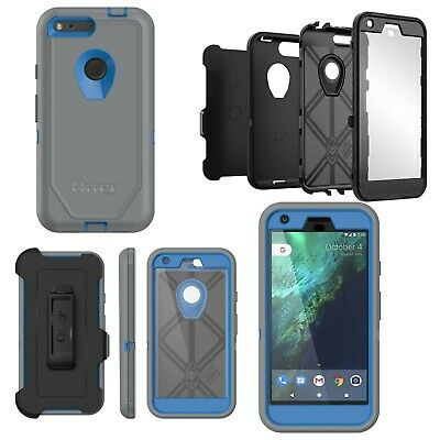 """OtterBox Defender Series Protective Case for Google Pixel XL 5.5"""" - Grey / Blue"""