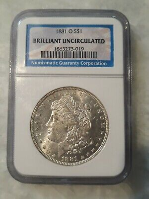 1881-O NGC Brilliant Uncirculated Morgan Silver Dollar