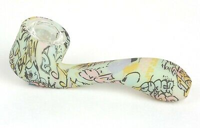 Smoking Pipe Glass Silicone Tobacco Pipe Glow In The Dark With Carb Hole-Grav