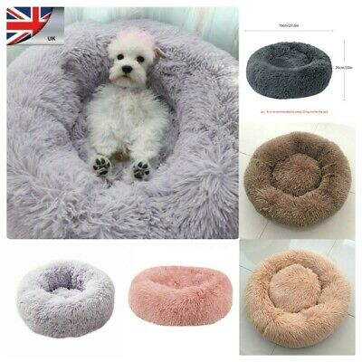 Comfy Marshmallow Calming Soft Dog/Cat Bed Round Super Plush Pet Bed Cat Bed UK