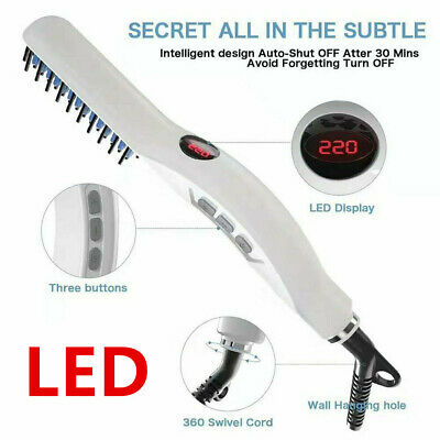 Quick Beard Straightener Hair Styler Multifunctional Comb Curler Show Cap Men kp