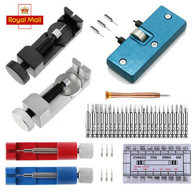 Watch Band Repair Tool Link Pin Back Battery Cover Remover Spring Bars Set Kit
