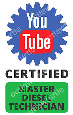 ect. Outdoors Bumper Sticker Toolbox You Tube CERTIFIED MECHANIC Vinyl Decal
