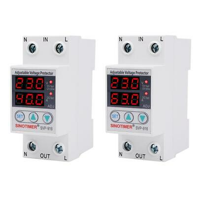 SVP-916 Adjustable Voltage Surge Protector Relay Limit Current Protection #F8s