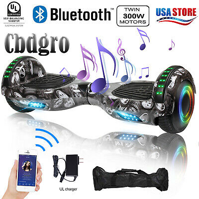 """UL2272 Hoverboard Bluetooth 6.5"""" Smart Self Balancing Scooter LED W/ Bag Gary"""