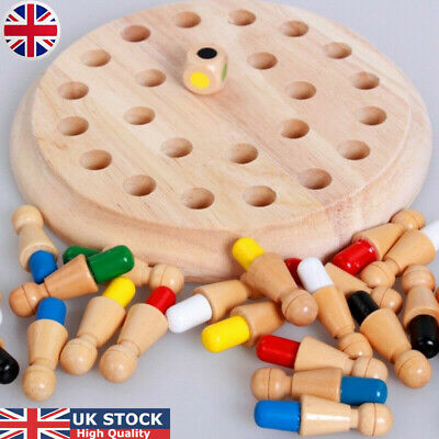 Kids Wooden Memory Match Stick Chess Game Educational Toy Brain Training Gift AE
