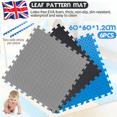 Interlocking Heavy Duty EVA Foam Gym Flooring Floor Mat Tiles 60X60X1.2cm UK