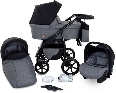 Boston Travel System 3in1 Baby Pram Car seat Pushchair Stroller Carrycot Buggy