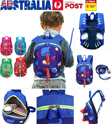 Baby Kid Toddler Safety Harness Backpack Anti-lost Leash Dinosaur Bag with Reins