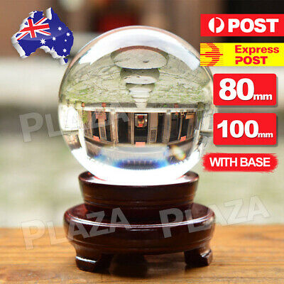 100mm Clear K9 Crystal Photography Lens Ball Photo Prop Background Home Decor