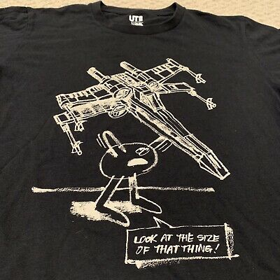 Star Wars Spaceship T Shirt Look At The Size Of That Thing UT UNIQLO Mens Large