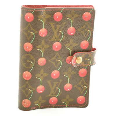 LOUIS VUITTON Monogram Cherry Agenda PM Day Planner Cover R21023 LV Auth 11459