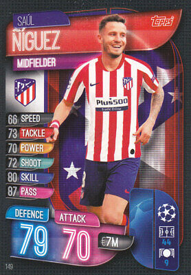 TOPPS MATCH ATTAX CL 2019-20 - Saul Niguez - Atletico Madrid - # 149