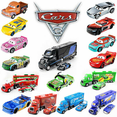 Disney Mattel Pixar Cars King Sally Lightning Mcqueen Kid Toys Gift 1:55 Loose