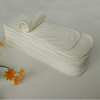 10 PCS/Lot 4 layers High Quality Bamboo Fiber Insert Liners For Cloth Diaper New
