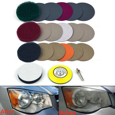 Accessories Sandpaper Pad Equipment Parts Polishing Set Headlight Clotha