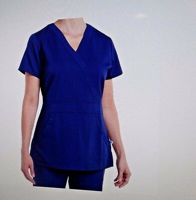 Nurse Mates Stretch Medical Scrub Set Navy 980007/980305 Large new