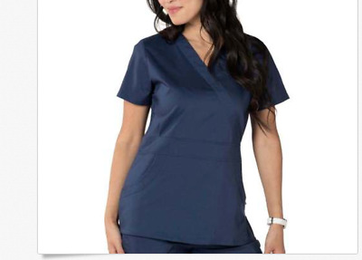 Nurse Mates Stretch Medical Scrub Set Navy Blue Small MFSRP 50.77 New