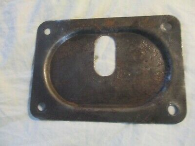 Antique Farm tractor or implement part steel sheet metal plate. Used