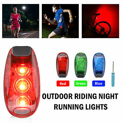 5 LED Clip On Running Bike Rear Safety Warning Tail Light Flashing Cycling Lamp