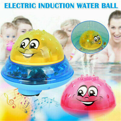 Kids Electric Induction Sprinkler Water Spray Toy Light Baby Bath Shower Toy YL