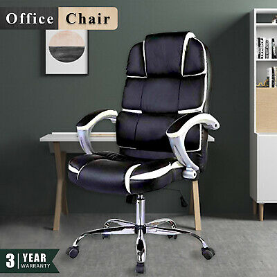 Office Chair High Back Executive Recliner Computer Gaming PU Leather  Chair Seat