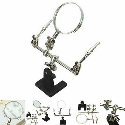 Hand Soldering Iron Stand Helping Clamp Magnifying Tool 60mm Clip Magnifier