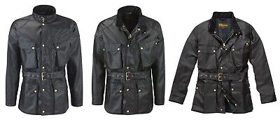 Heavy Weight Wax Cotton Motorcycle Jacket