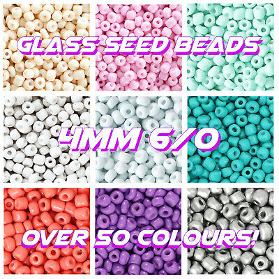 Rainbow 💛🧡❤️️💚💙6/0 Glass Seed Beads 4Mm Rocailles 20G Bags Jewellery Macrame