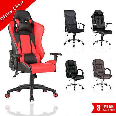 Executive Gaming Office Chair Racer Recline Computer Chair Racing Seat 7 Types