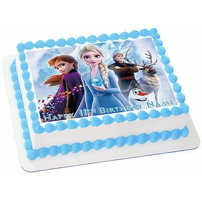 Admirable Disneys Frozen Birthday Cake Topper Edible Image Sugar Cupcake Funny Birthday Cards Online Elaedamsfinfo